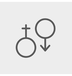 Male and female thin line icon vector