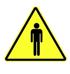Man attention sign vector