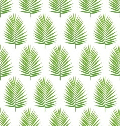 Palm leaf silhouette seamless pattern tropical vector