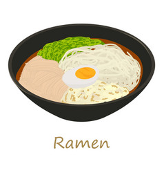 Ramen icon cartoon style vector