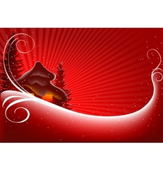 Red Christmas Greeting vector image vector image