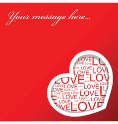 red love card vector image vector image