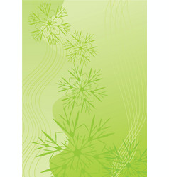 snowflakes abstract green backdrop vector image vector image