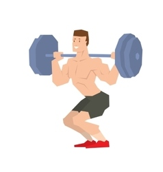 Sportsman barbell vector