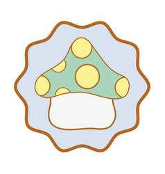 Symbol cute fungus plant image vector