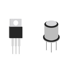 transistor isometric icon vector image