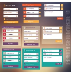 user interface elements sets of login and vector image vector image