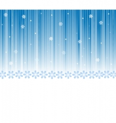 vector winter background vector image vector image