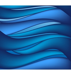 Waves on water vector image