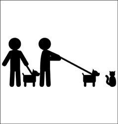 Walking a dog vector