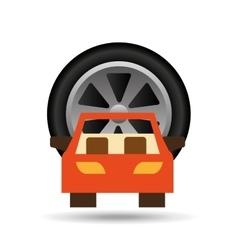 car front wheel icon design vector image