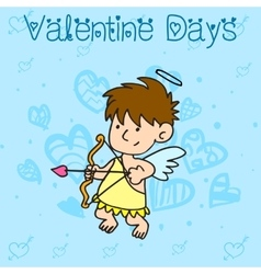Collection stock of cupid character valentine vector