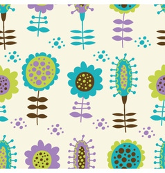 Seamless floral pattern on a light background vector