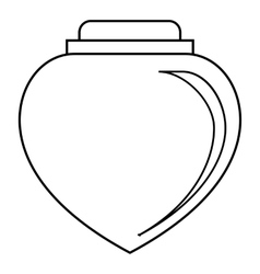 Love perfume icon outline style vector