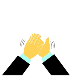 Clap hands conference business logo vector image