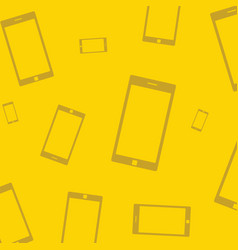 Mobile devices smartphone pattern yellow vector
