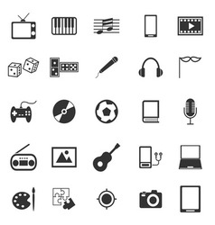 Entertainment icons on white background vector