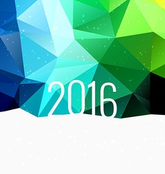 2016 in colorful low poly background vector image vector image