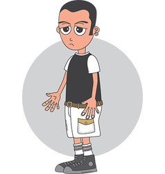 Punk kid vector