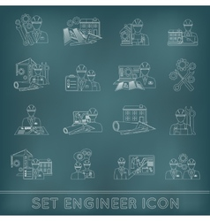 Engineer icon outline vector