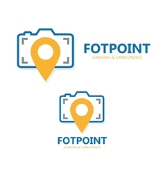Logo point with camera vector