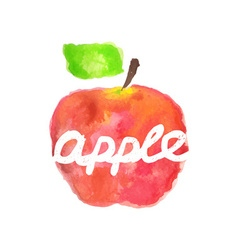 Watercolor apple lettering vector