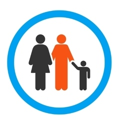 Family rounded icon vector