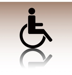 Black disabled icon vector