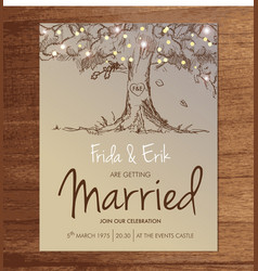 Wedding invitation template mock up design layout vector