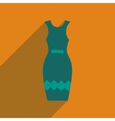Flat icon with long shadow elegant dress vector