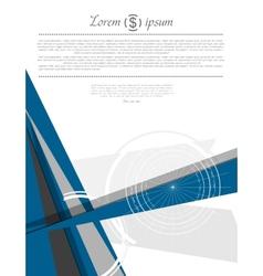 Abstract modern minimal flat flyer design vector