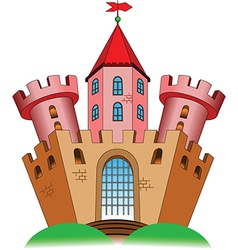 Ancient castle vector image