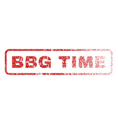 bbg time rubber stamp vector image