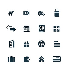 delivery icons set vector image vector image