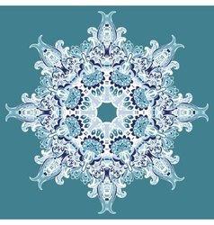 Elegant Lace Winter Snowflake vector image