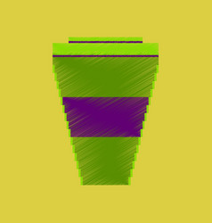 flat shading style icon pixel icon coffee to go vector image vector image