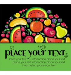fruit background vector image vector image