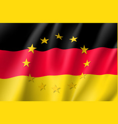 germany national flag with a star circle of eu vector image