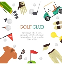 Golf Club Banner Flat Design Style vector image