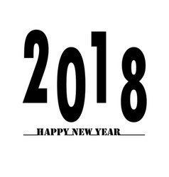 happy new year 2018 on white background happy new vector image