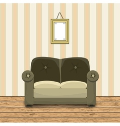 Interior of a room vector image