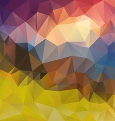 Landscape sunset polygonal triangular pattern vector