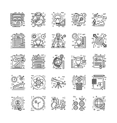 Line Icons With Detail 3 vector image vector image
