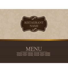Menu book template vector