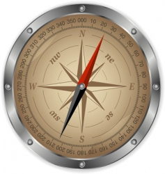 metal compass vector image vector image