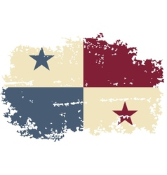 Panama grunge flag vector