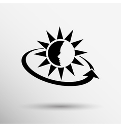 Sun cream containers icon sun vector