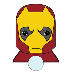 Superhero character in red yellow covered vector