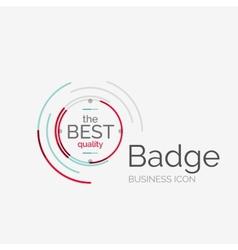 Thin line neat design logo premium quality stamp vector image