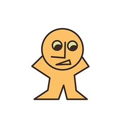 yellow man looking down vector image vector image